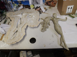 Mould and first cast