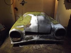 Abandoned car sculpt and paint.