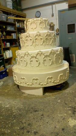 Oversized wedding cake