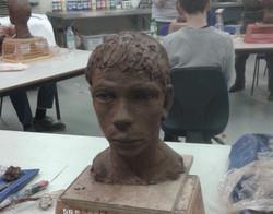 Clay head sculpt