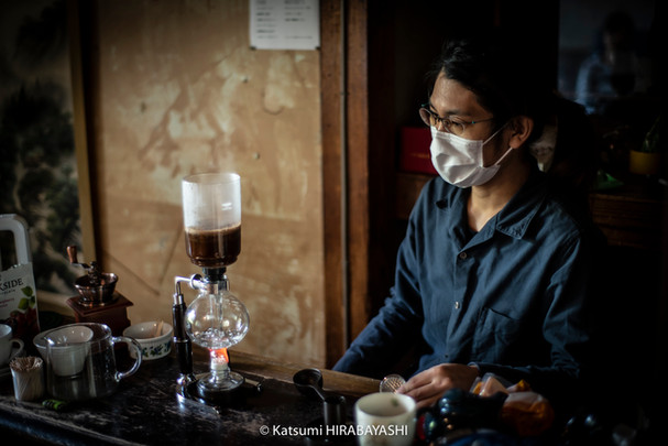"""""""We wanted to brew coffee slowly"""", said the dorm residents who manage the Tamari Room. The act of waiting for coffee to brew allows us all a moment of quiet relaxation."""