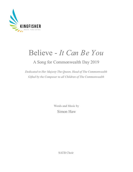 Believe - It Can Be You SATB Choir Part