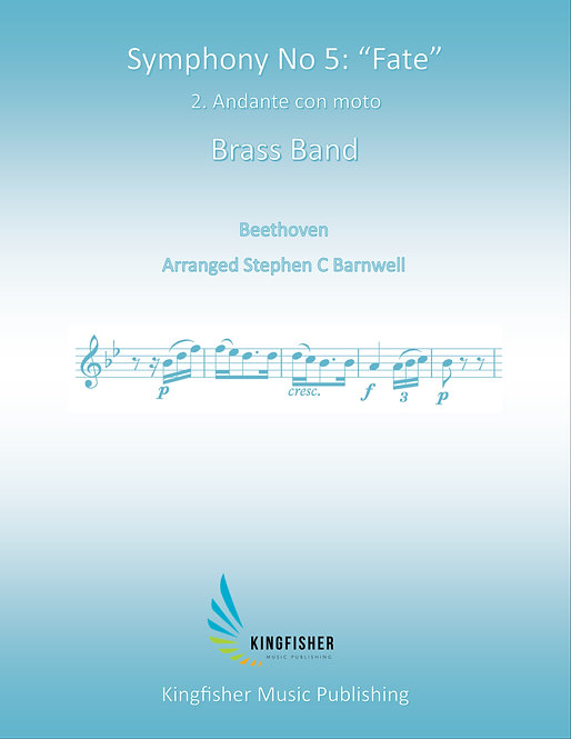 """Symphony No 5 """"Fate"""" - Second Movement - Score only"""