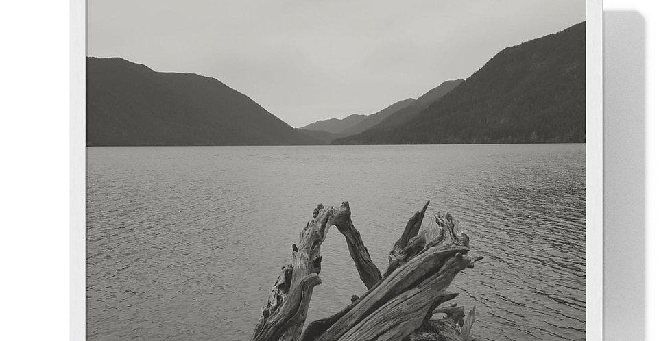 Lake Crescent Framed Horizontal Poster