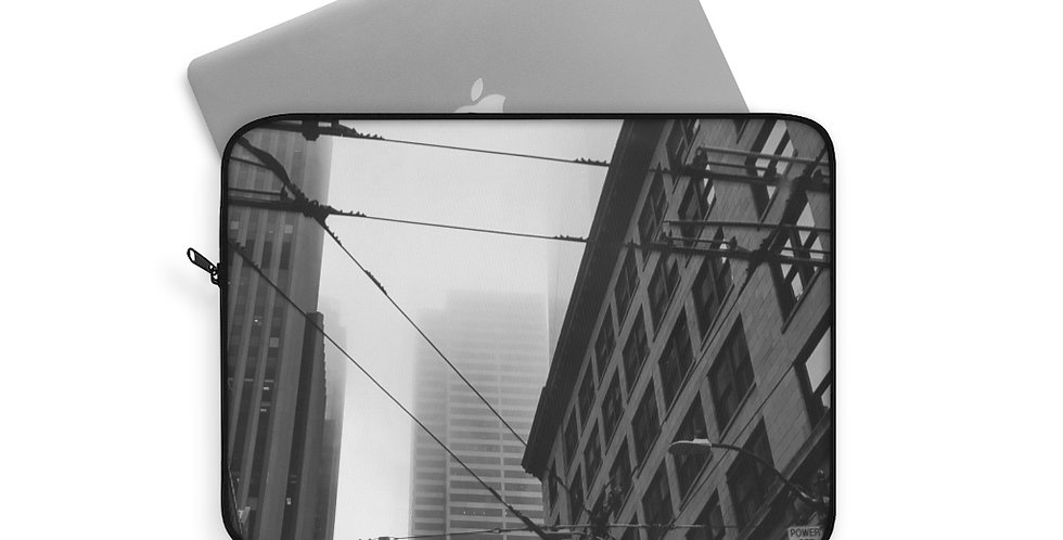 Foggy Cityscape Laptop Sleeve