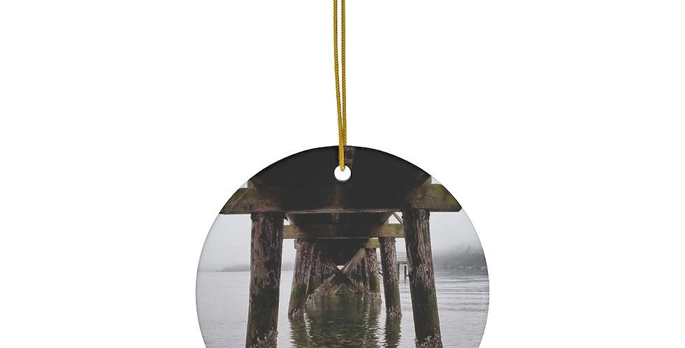 Under The Pier Ceramic Ornament