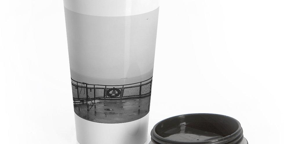 Foggy Ferry Reusable Stainless Steel Travel Mug