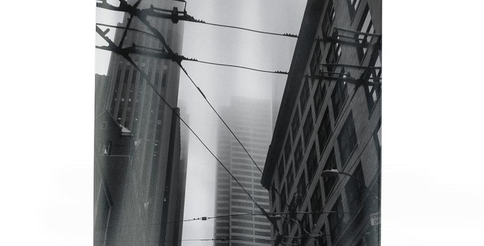 Foggy Cityscape Shower Curtains