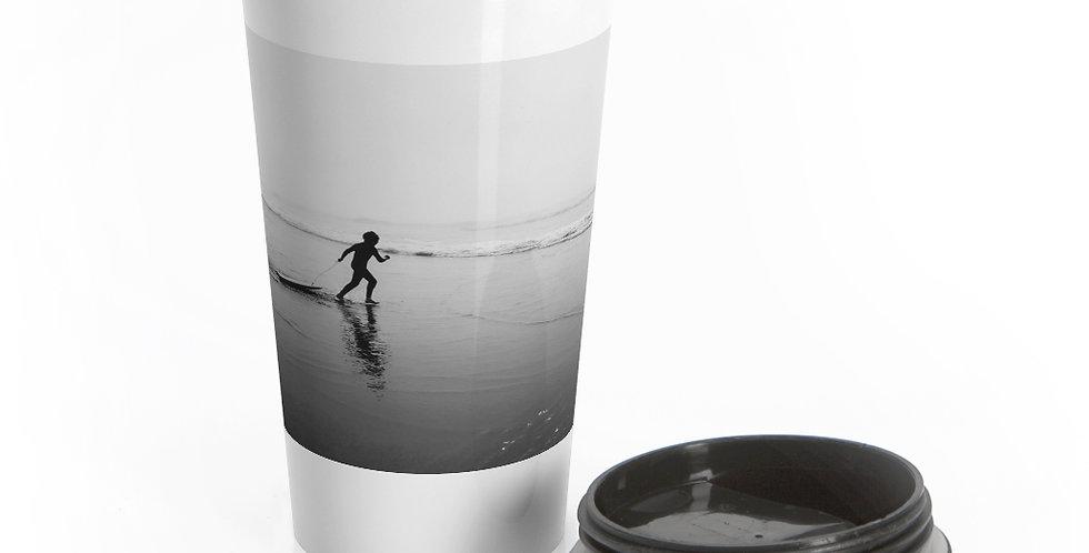 Surf's Up Reusable Stainless Steel Travel Mug
