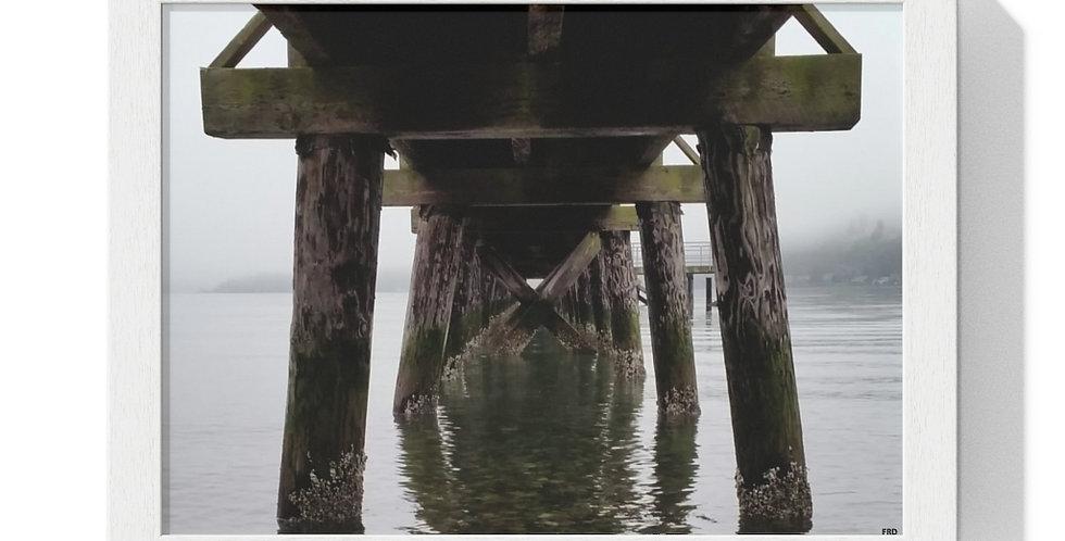 Under The Pier Framed Horizontal Poster