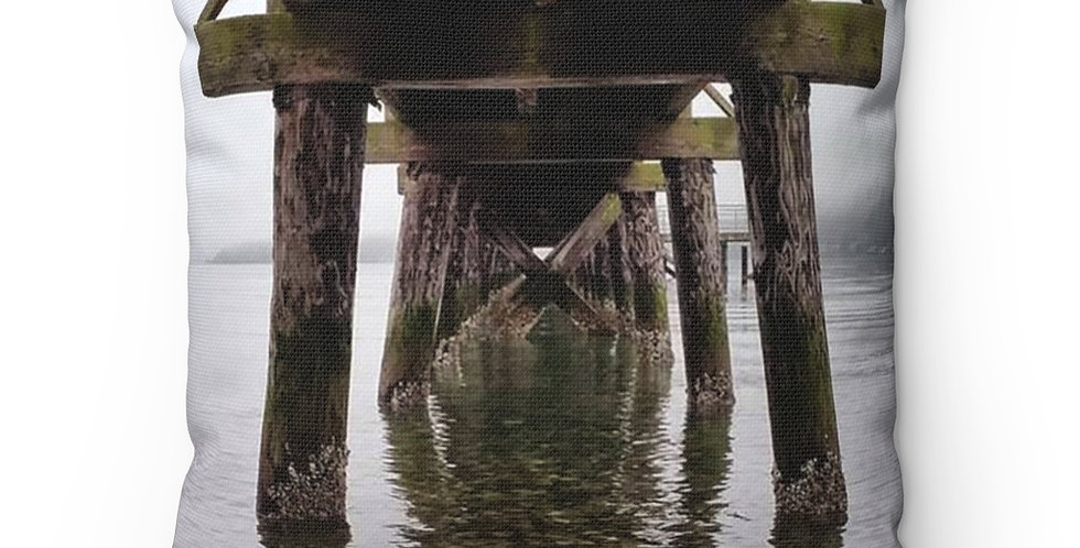 Under The Pier Square Pillow