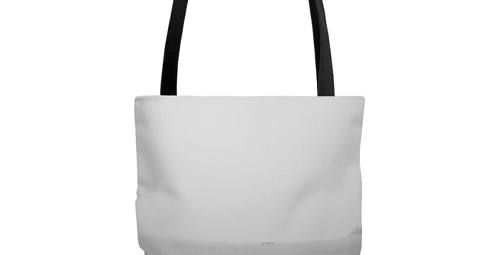 Foggy Ferry Tote Bag