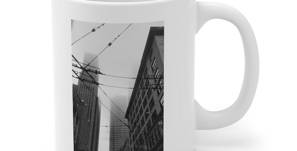 Foggy Cityscape/Look Up Ceramic Mug