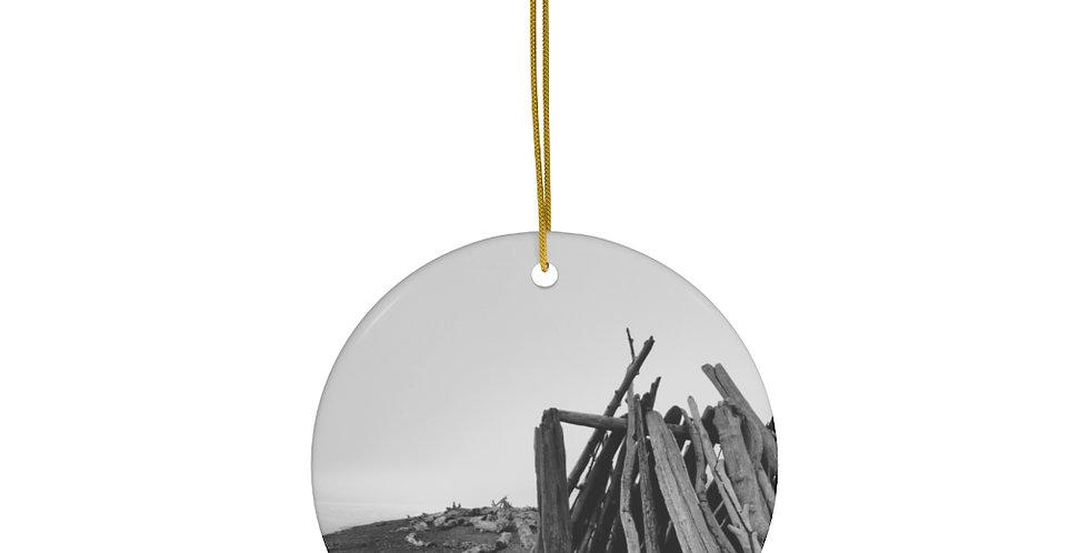 Driftwood Fort Ceramic Ornament