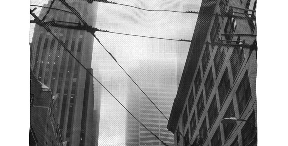 Foggy Cityscape Accessory Pouch