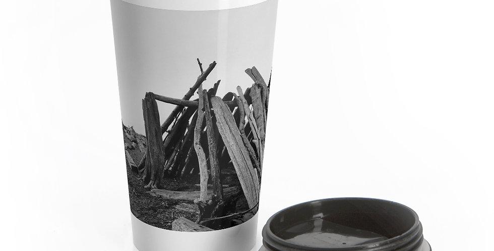 Driftwood Fort Reusable Stainless Steel Travel Mug