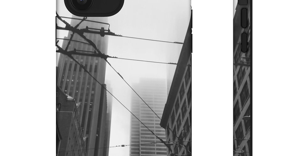 Foggy Cityscape Cell Phone Cover