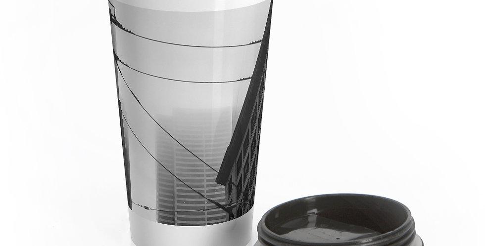 Foggy Cityscape Reusable Stainless Steel Travel Mug