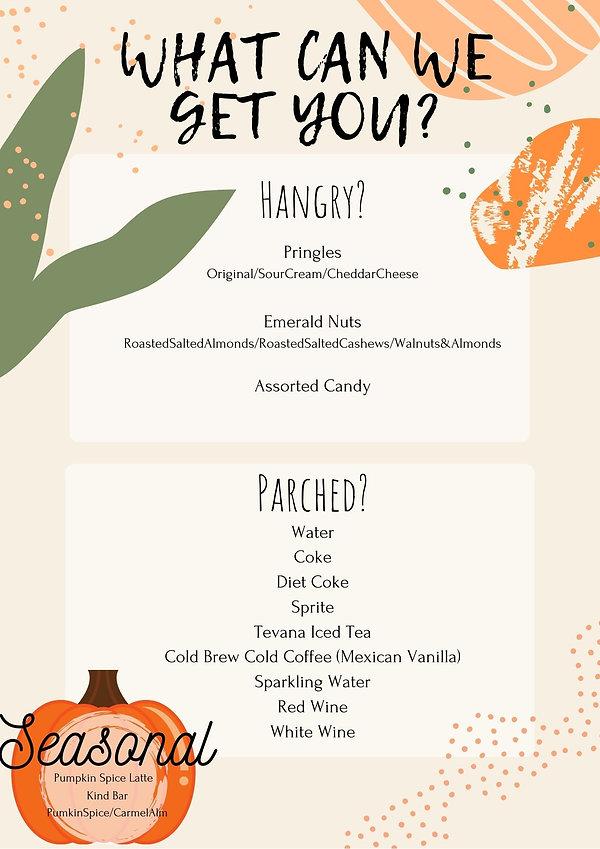 Orange and Green Food Weekly Menu Planne