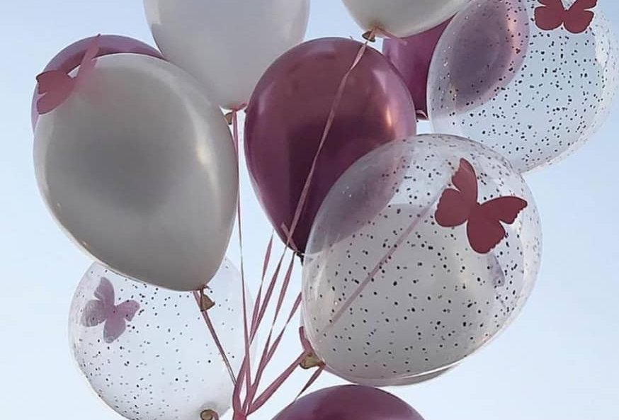 "3 Helium Balloons 10"" Assorted Colours (add on only)"
