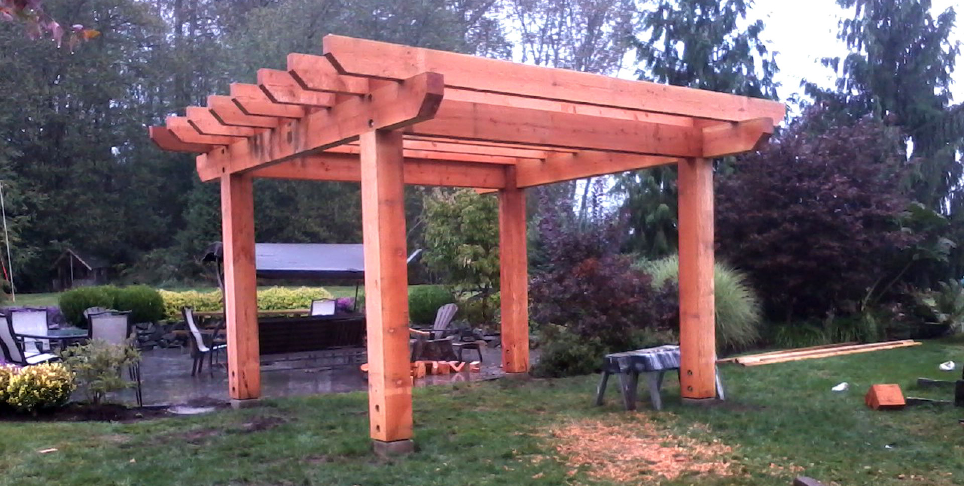 Giant Post & Beam Pergola