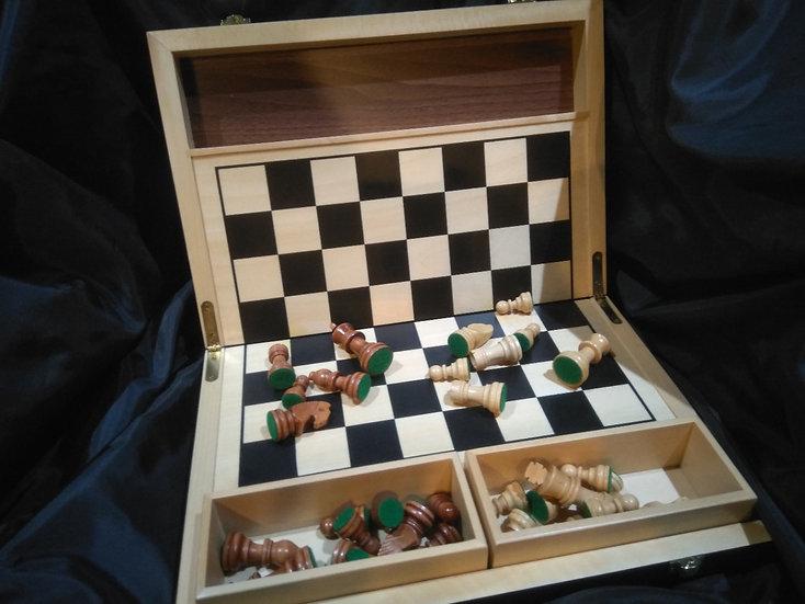 Folding Wooden Chess Case