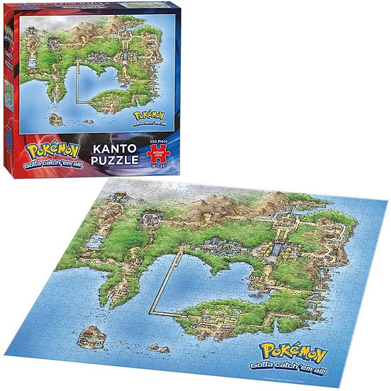 Pokemon: Kanto Map Collector Series Puzzle