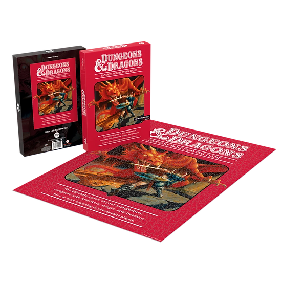 Dungeons & Dragons Red Box 1000 Piece Puzzle