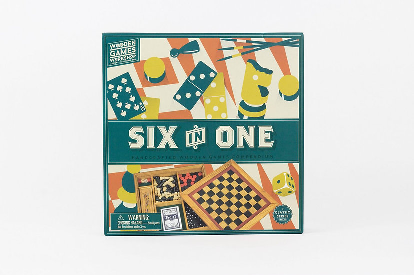 Six in One Wooden Games Compendium