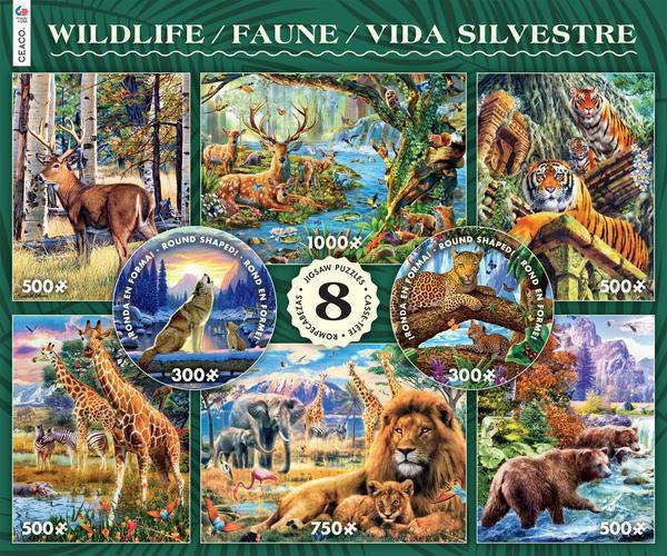 Wildlife 8 in 1 puzzle