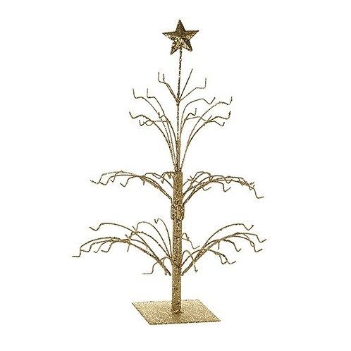 Small Gold Glitter Metal Tree