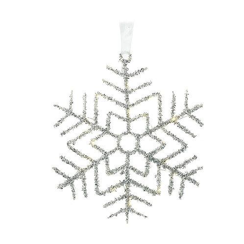 Light Up Metal Snowflake Hanger