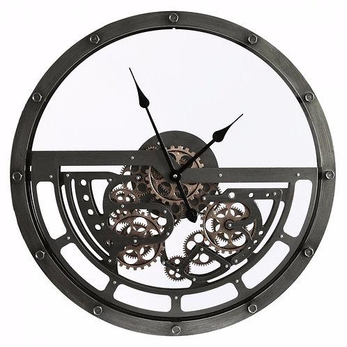 Half Skeleton Cogs Clock