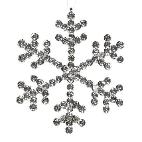 Silver Snowflake Decoration