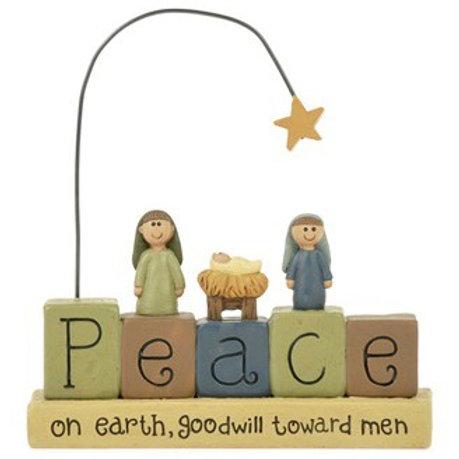 Nativity Peace on Earth Sign