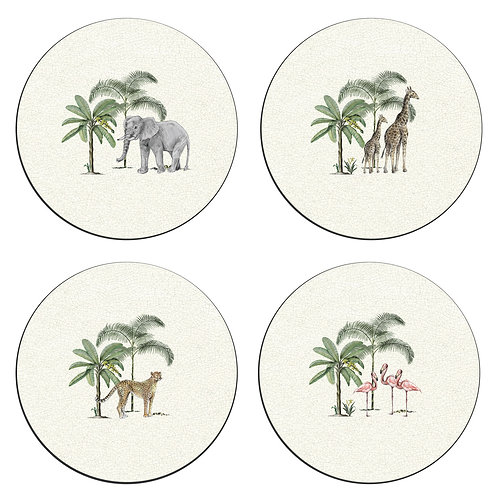 Out of Africa Coasters - Set of 4