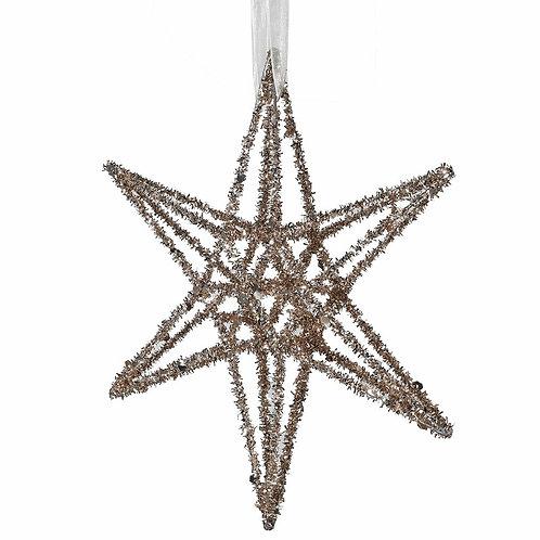 Medium Gold Glitter 3D Star