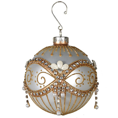 Gold Glass Beaded Bauble