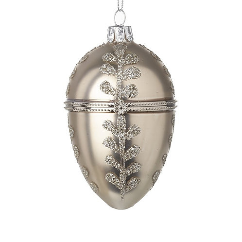 Glass Oval Casket Bauble