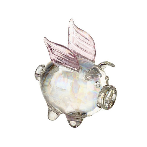 Glass Pig with Wings