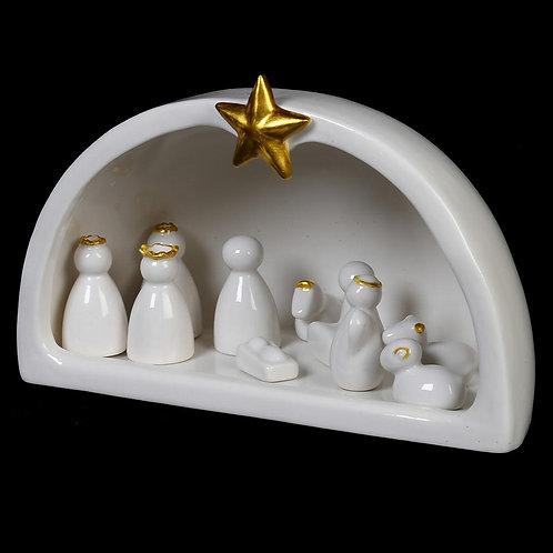 Gold Star Nativity Scene