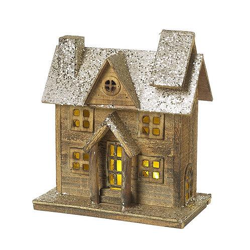 Wooden Light up House