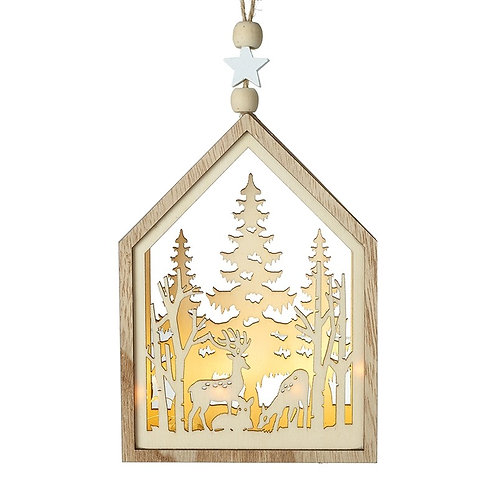 Deer and Tree Cut out scene hanging decoration