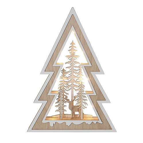 Wooden Christmas LED Scene