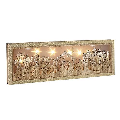 Wooden Nativity LED Scene