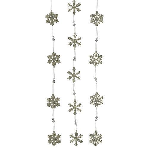 Acrylic Snowflake Garland
