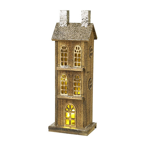 Small Wooden Light up House