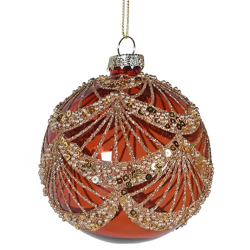 Amber and Gold Swag Bauble