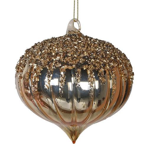 Gold Glitter Onion Bauble