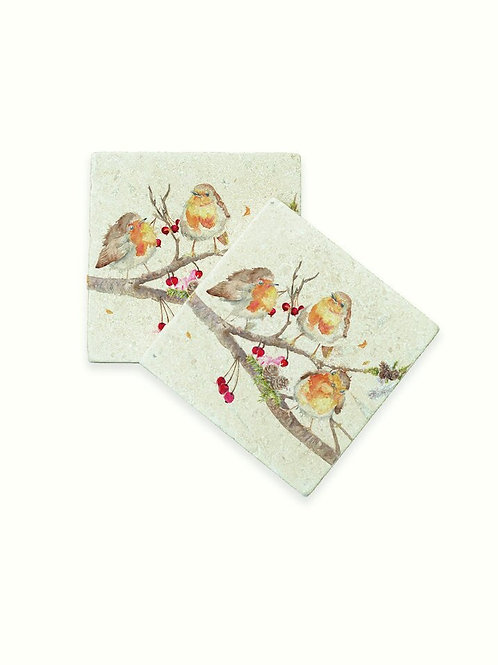Set of 2 Kate of Kensington The Berry Branch Coasters